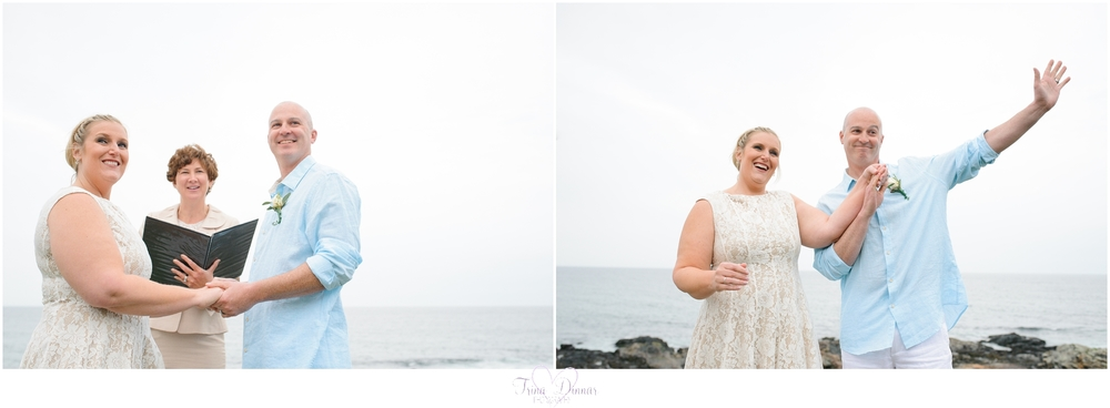 A coastal Maine elopement at Marginal Way.