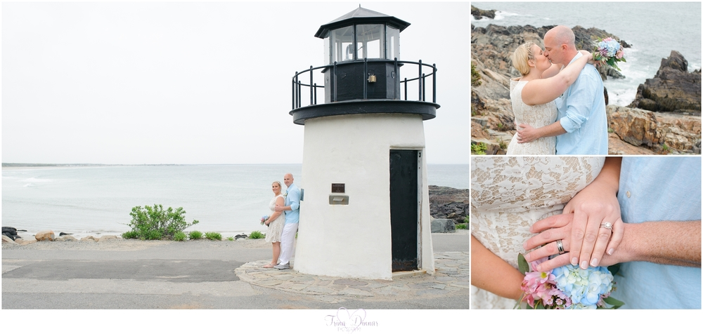 Wedding Photography at the Lighthouse at Marginal Way Ogunquit Maine