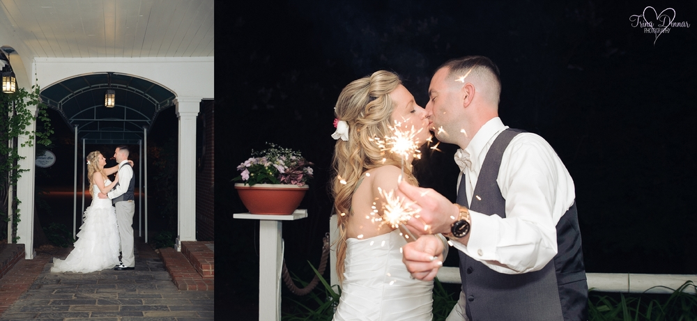 Sparkler Wedding Photography in New Hampshire