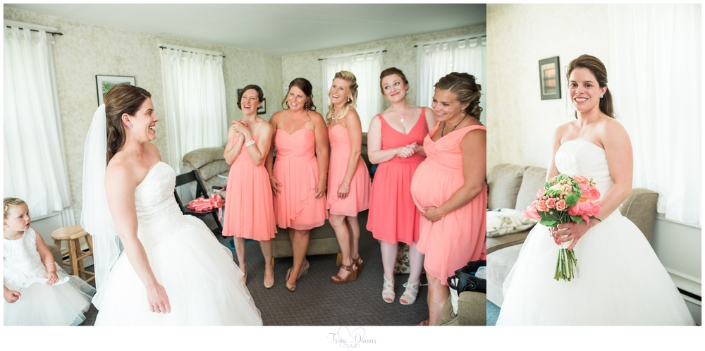 Peru Maine Wedding Bride and Bridesmaids