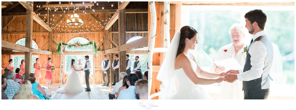 Worthley Pond Barn Weddings in Maine.