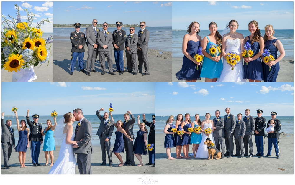 Maine wedding portraits on Pine Point Beach.