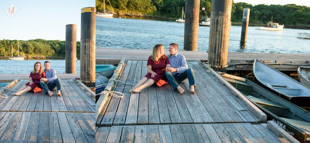 Lindsey and Owen's coastal Maine engagement session.