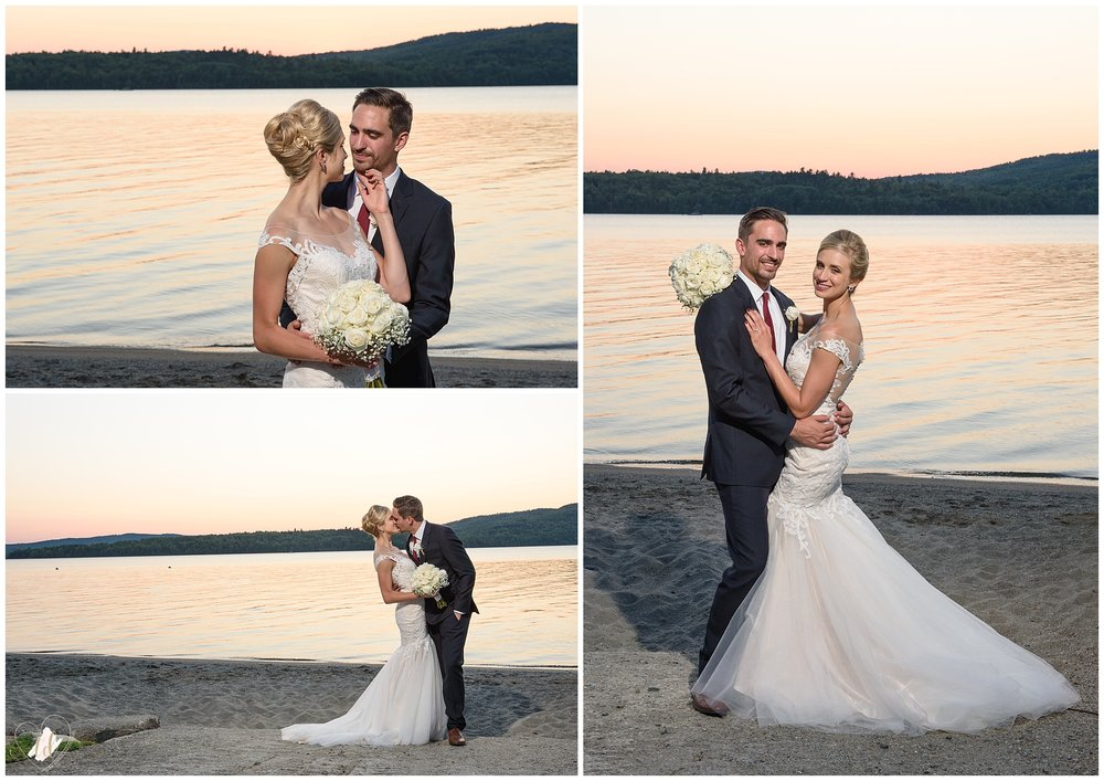 Rangeley Lakes Maine Wedding Sunset Photography