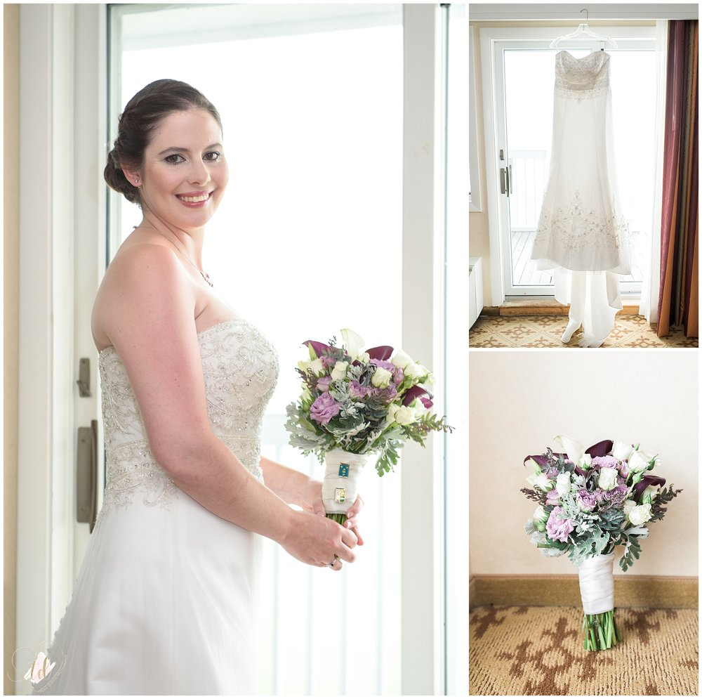 Wedding Photographer captures bride getting ready in Rockport, Maine.