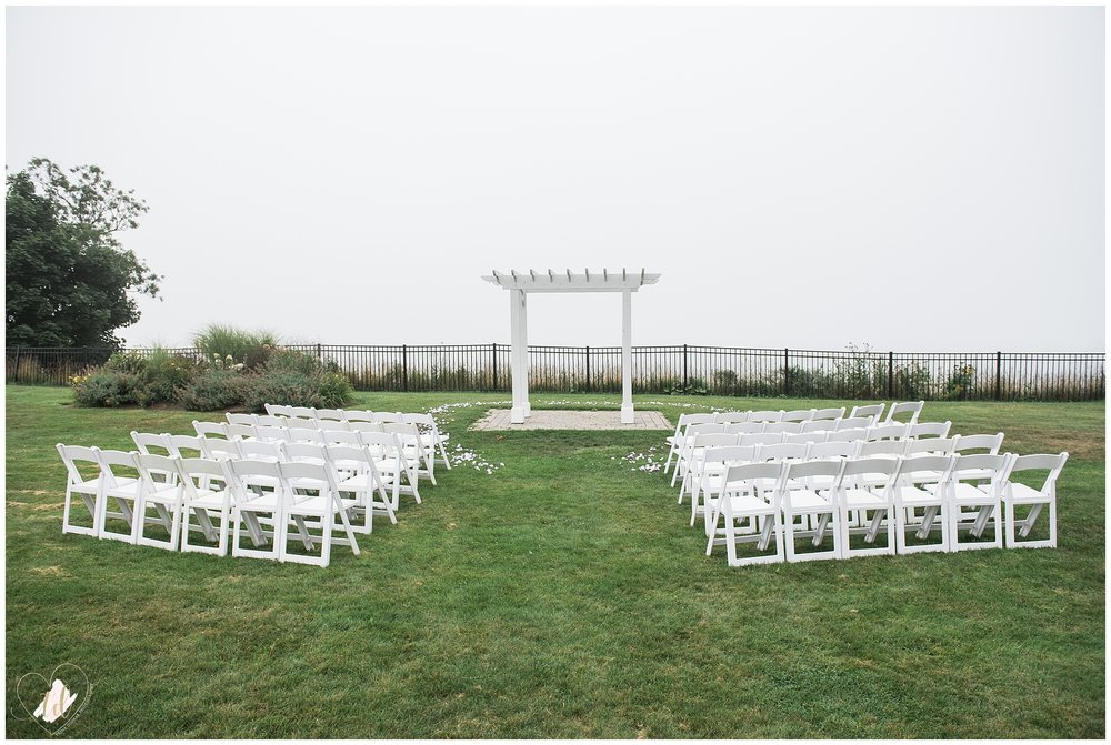 Wedding Ceremony at the Samoset Resort in Rockport, Maine.