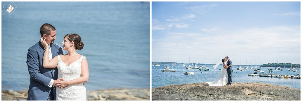 Mackenzie and Stewart's Southern Coastal Maine Wedding Portraits