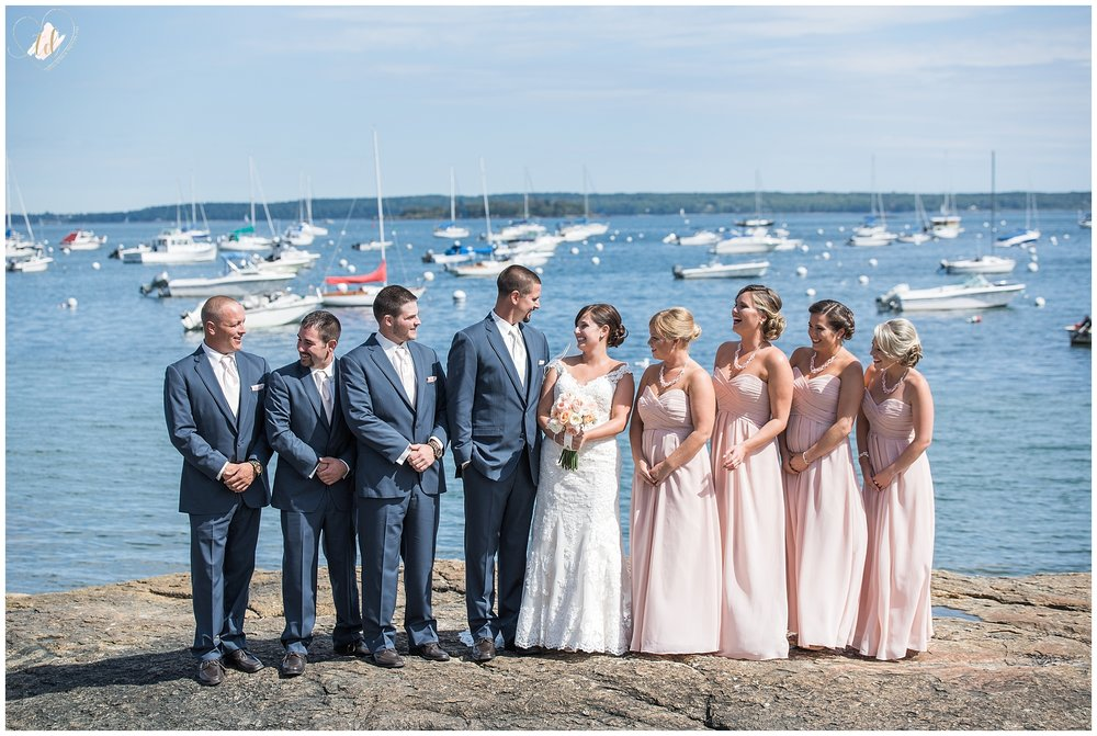 Falmouth Town Landing Wedding Photo