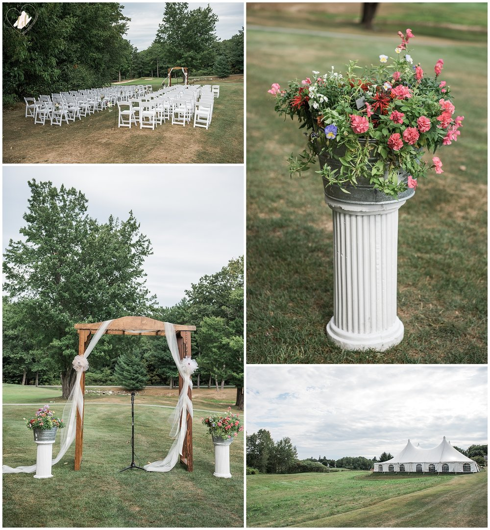 Falmouth Country Club Wedding Ceremony Decor