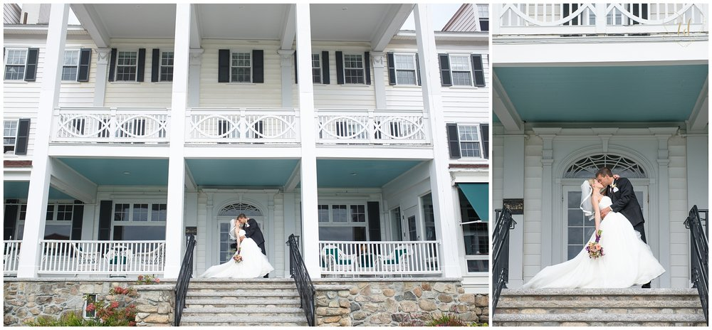 A Maine wedding at the Colony Hotel in Kennebunkport.