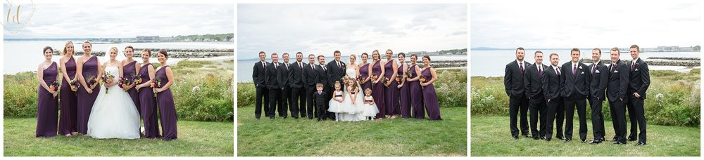 Wedding Photographers in Maine capture bridal party portraits.