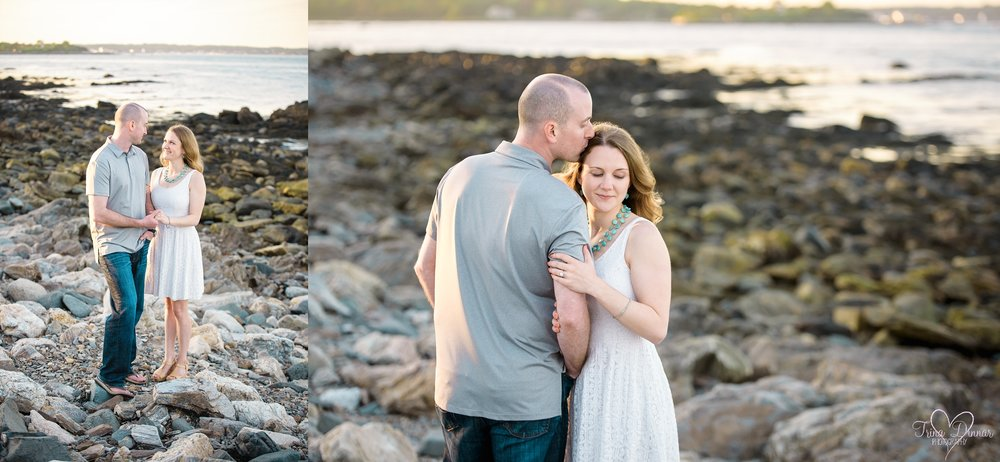 Coastal Maine Beach Portraits by Maine wedding photographer, Trina Dinnar.