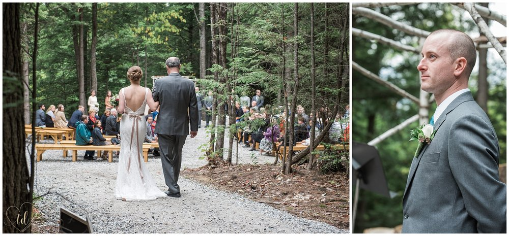 Maine wedding ceremony at Granite Ridge Estate & Barn.
