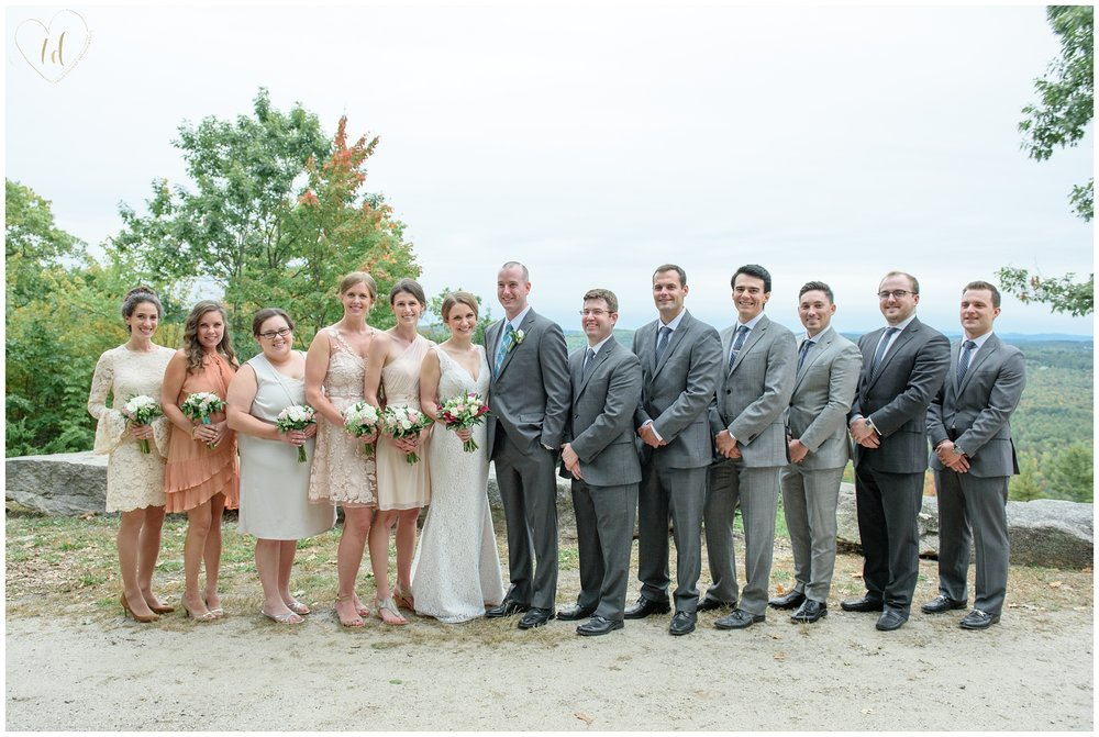 Wedding Party portraits in the Maine Mountains