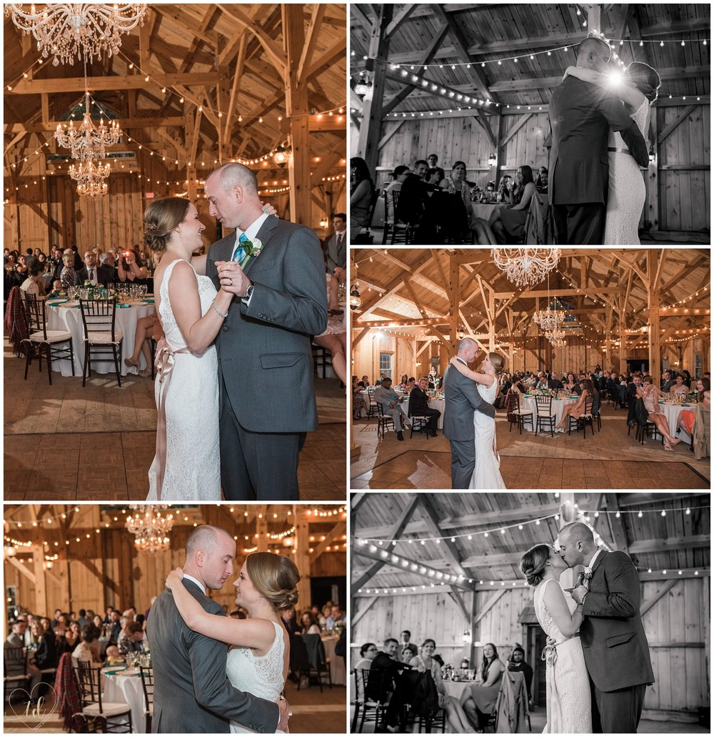 First dance from a wedding at Granite Ridge Estate and Barn Norway Maine.