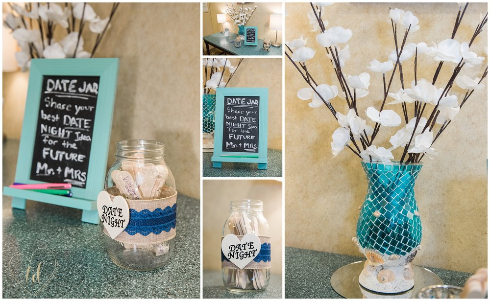 Fun date night ideas at wedding reception.