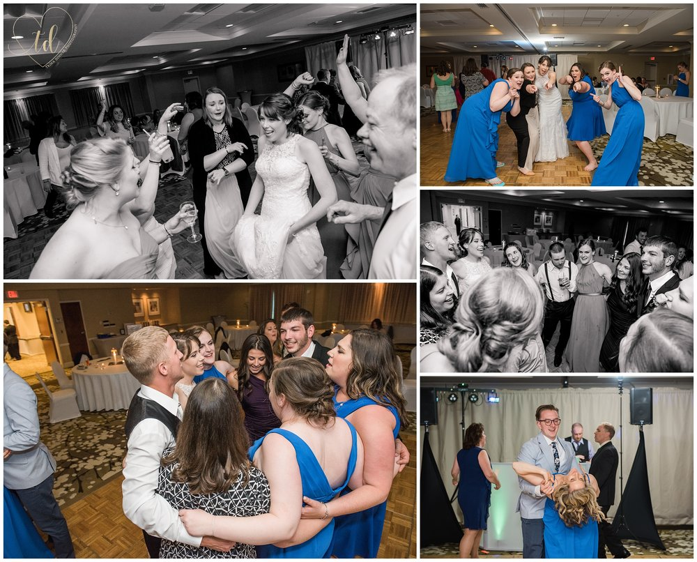 Maine wedding reception in Freeport at the Hilton Garden Inn.