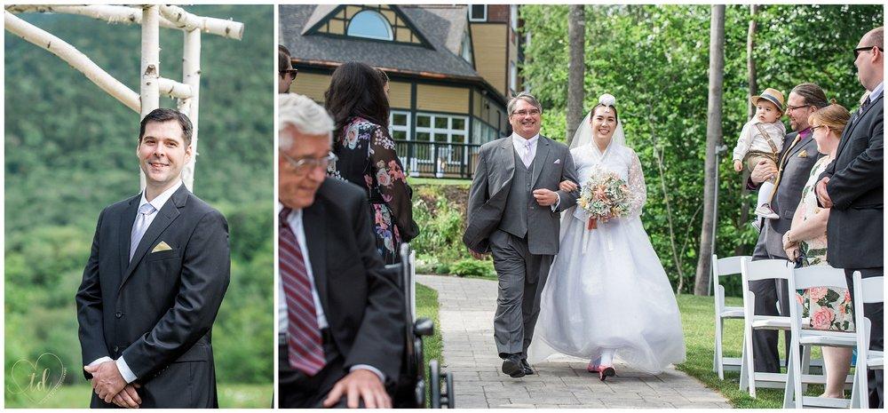 Sunday River Jordan Terrace Wedding Ceremony