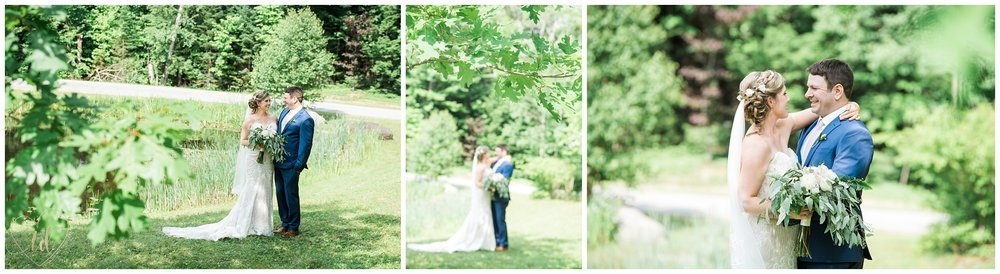 Wedding Photographers in Maine capture first look and portraits.