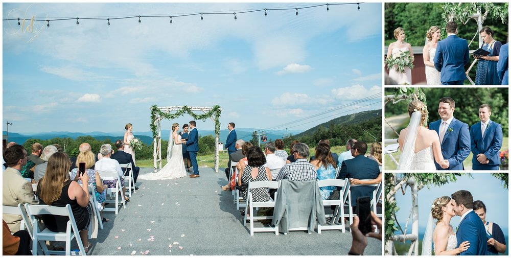 Peak Lodge Sunday River Wedding Ceremony Photography