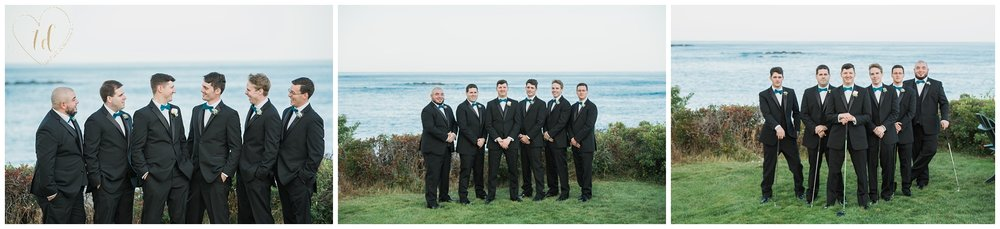 Groom and Groomsmen wedding photography in Southern Maine.