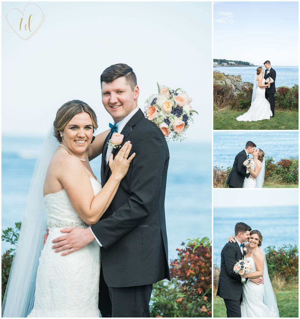 Cliff Walk Beach York Maine Wedding Portraits