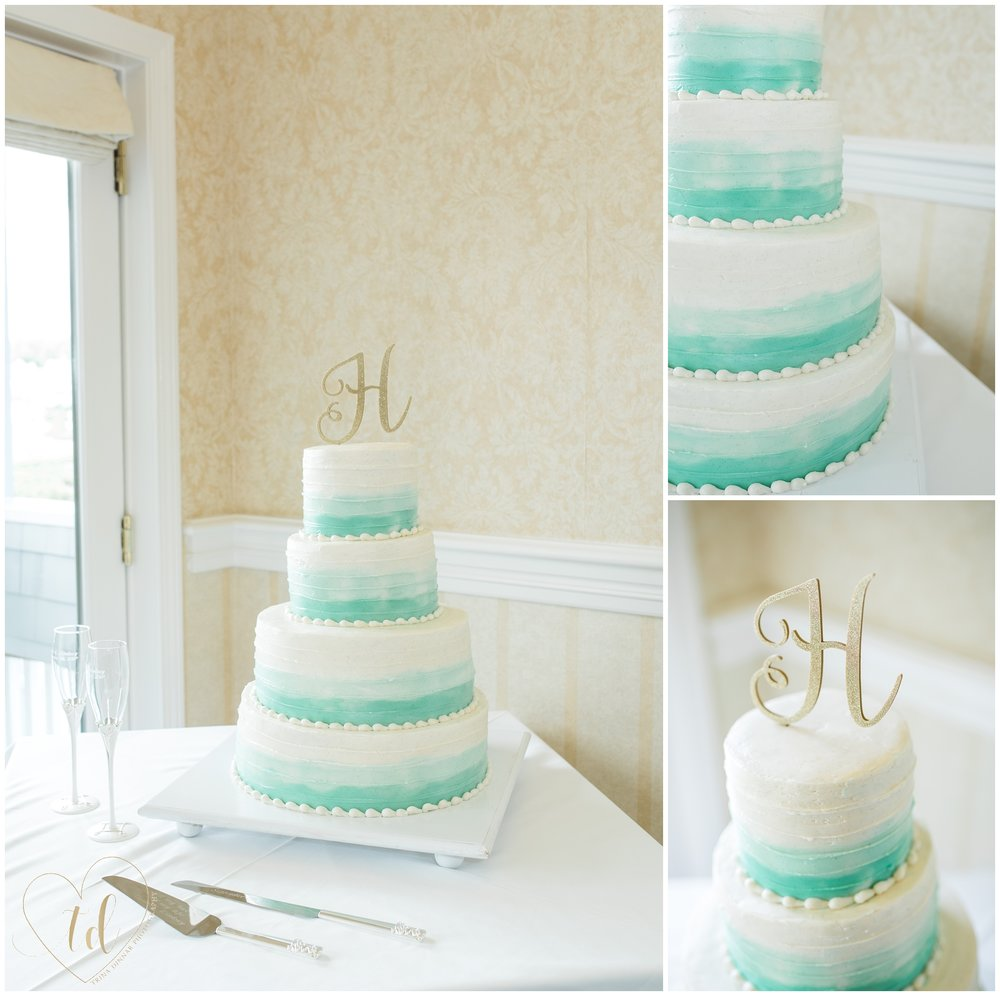 Wedding cake by Cake Elizabeth, a Maine wedding cake bakery based out of Cape Elizabeth, Maine.