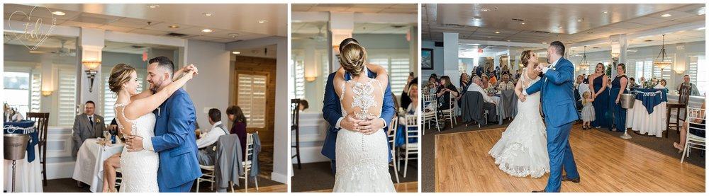 Bride and Groom share their First Dance at Water's Edge Banquet and Function Facility