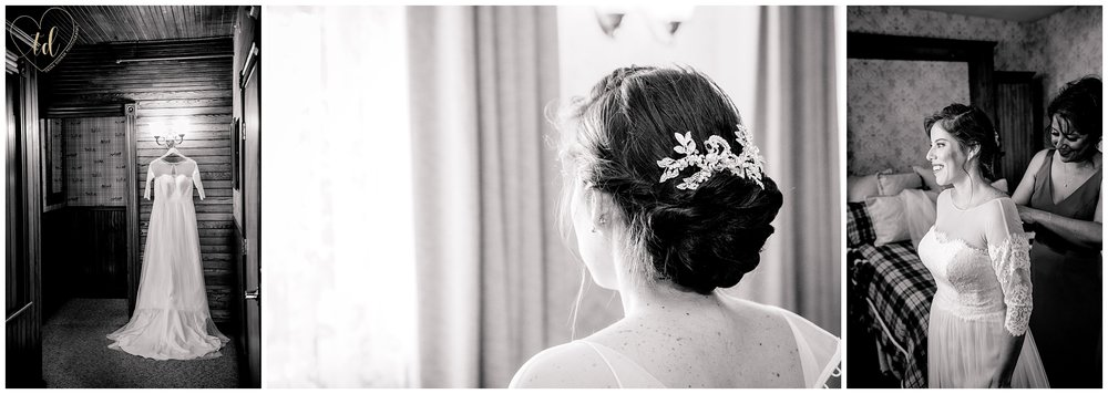 Bride prepares for her elopemnt at the Berry Manor Inn