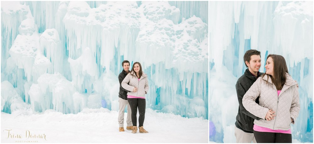 New England Winter Couple's Photo Shoot at Unique Arctic Location