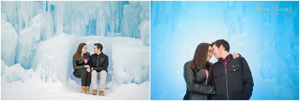 Engagement Photography Session at Ice Castles in Lincoln, NH