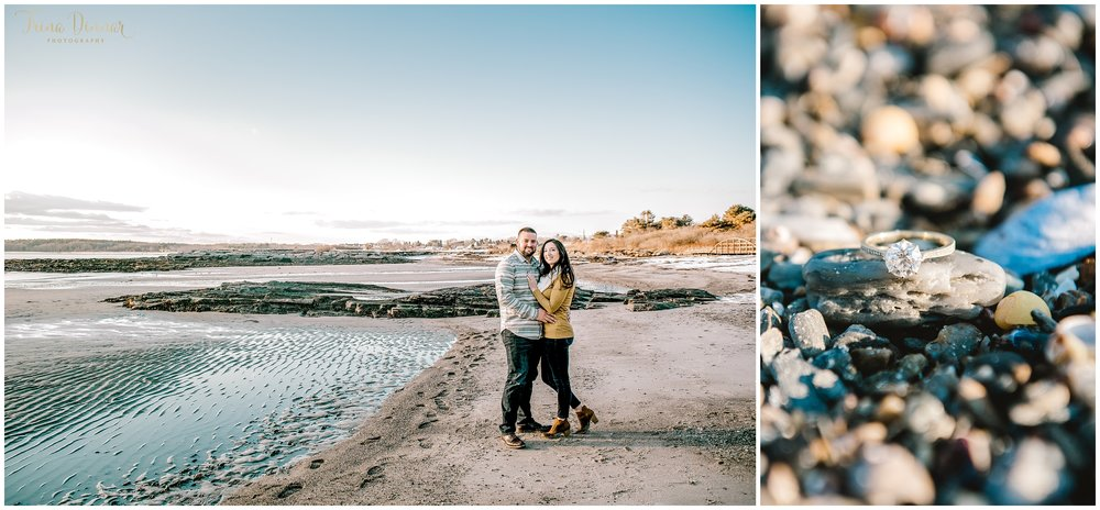 Coastal Maine Beach Engagement Photos