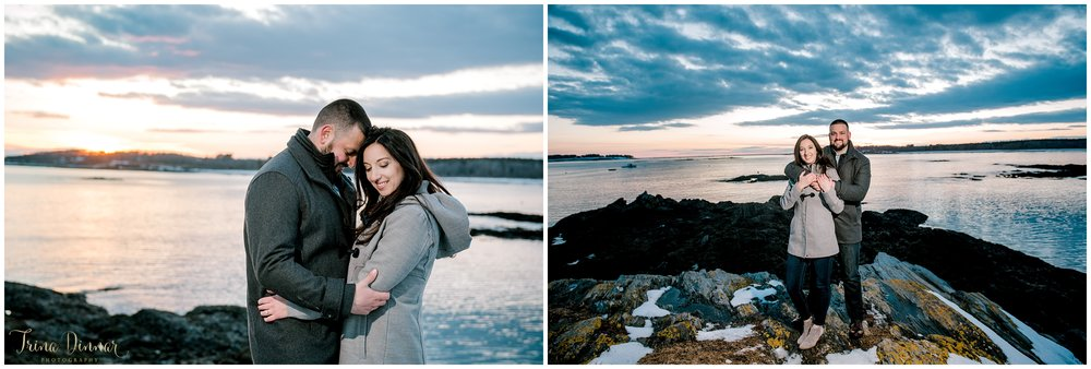 Maine Sunset Couples Portraits