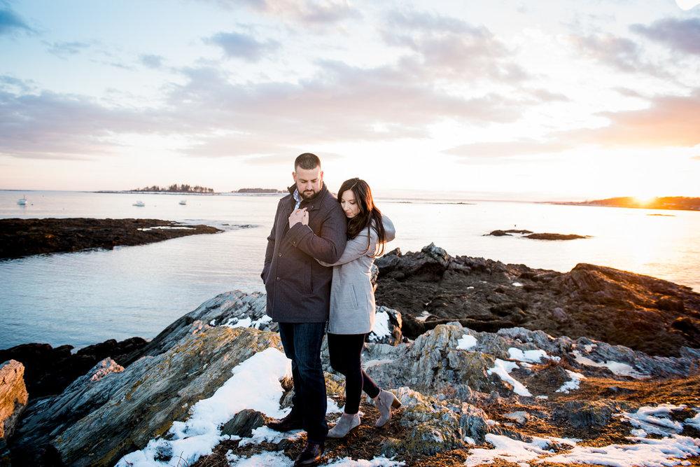 Coastal Maine Engagement Photo