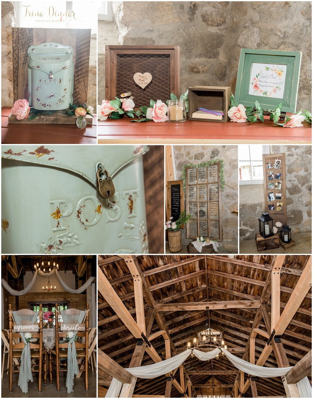 New England Rustic Stone Wedding Barn