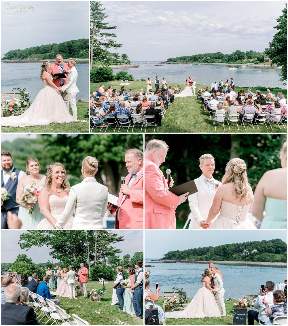 Same Sex Pride Maine Wedding Ceremony Photography