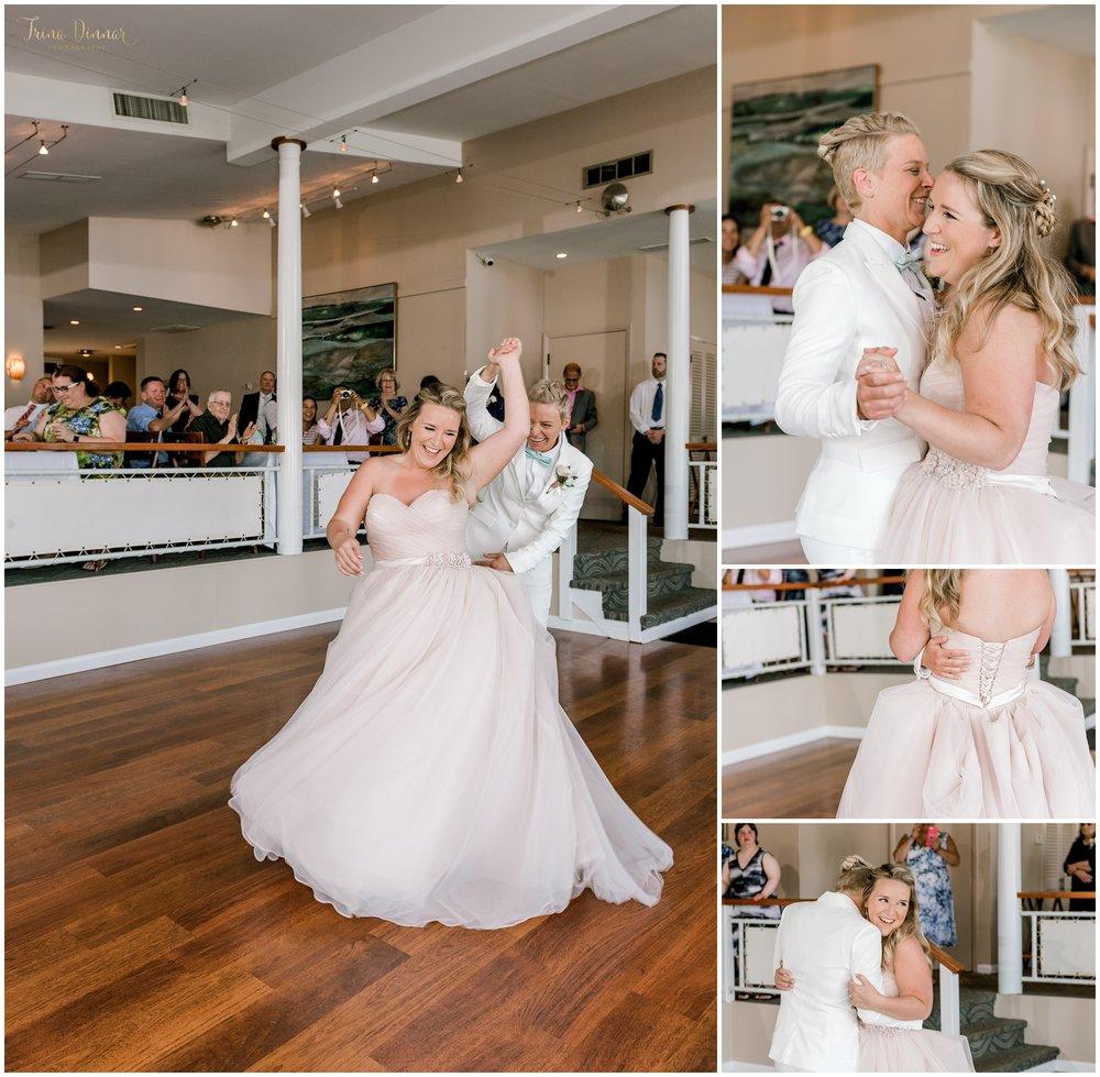 Love is love LGBT wedding first dance