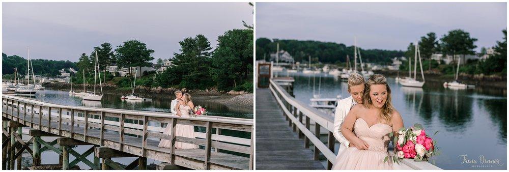 York Harbor Maine Dockside Restaurant Wedding