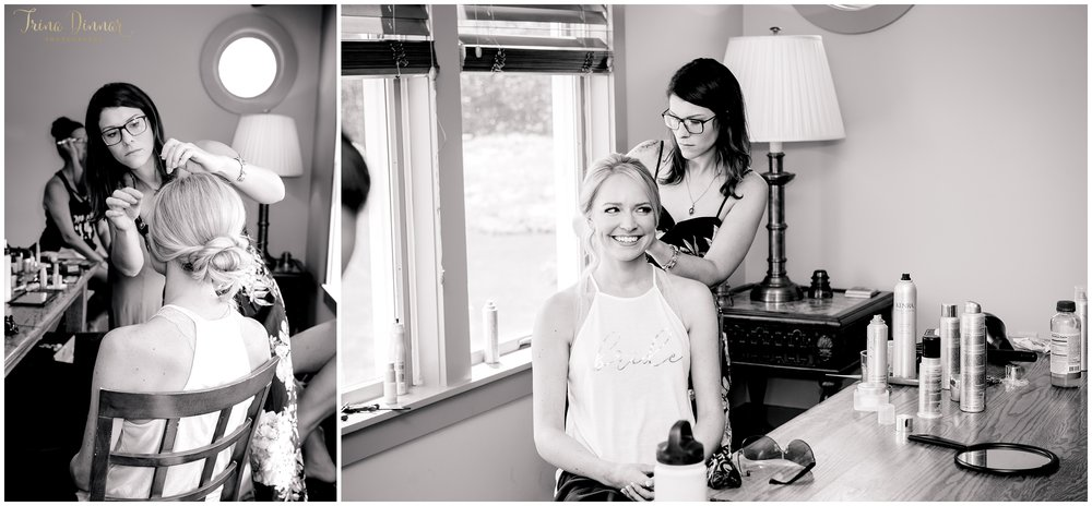 Ashton getting her hair done for her wedding by Brooke Graffam of Studio 88 Salon