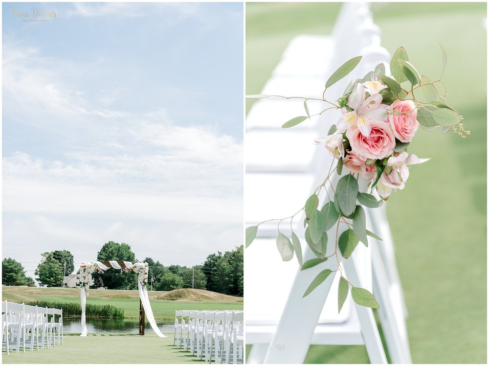 Classic and Romantic Wedding Ceremony at Falmouth Country Club