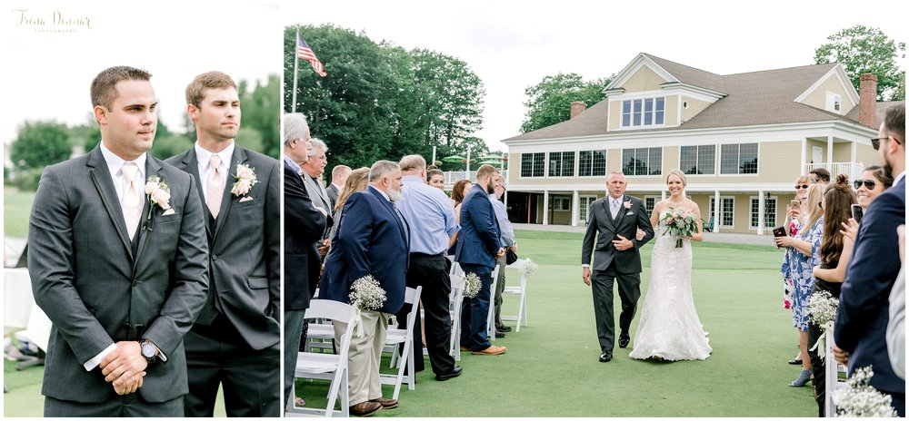 Falmouth CC Maine Wedding Ceremony Photography