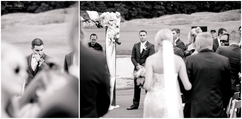 Groom tears up seeing bride walk down aisle