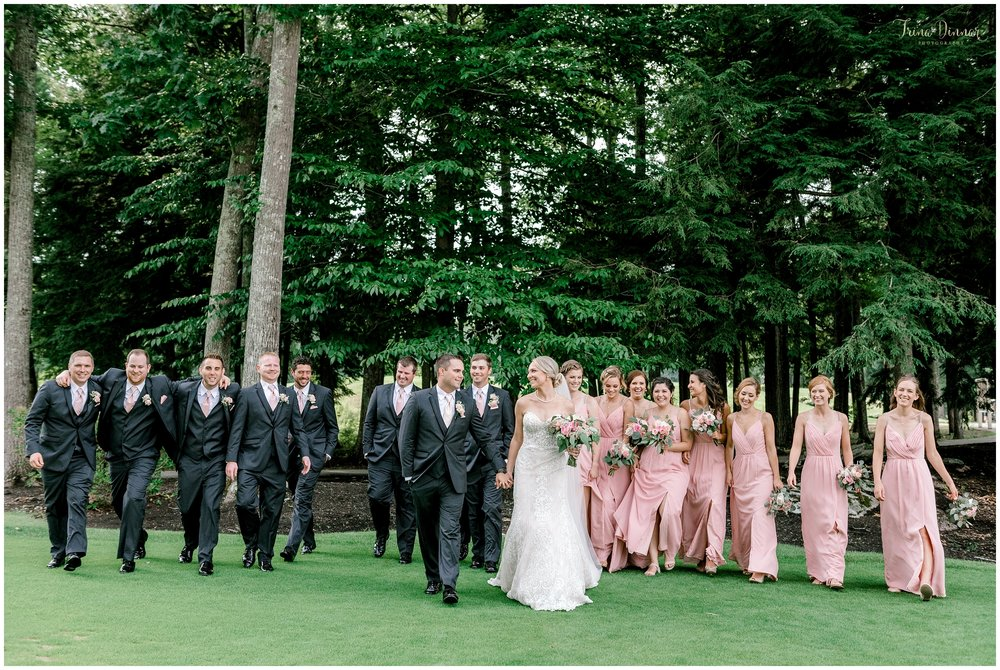 Maine Country Club Wedding Party Portrait Photos
