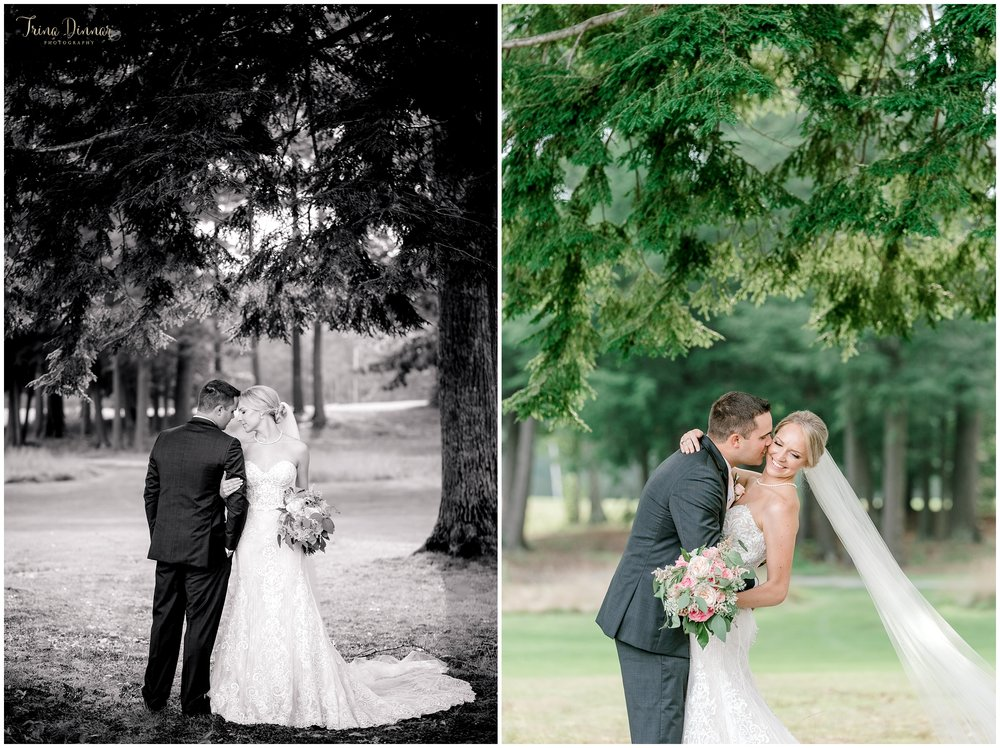 Maine Falmouth Country Club Wedding Photographer Captures Bride and Groom
