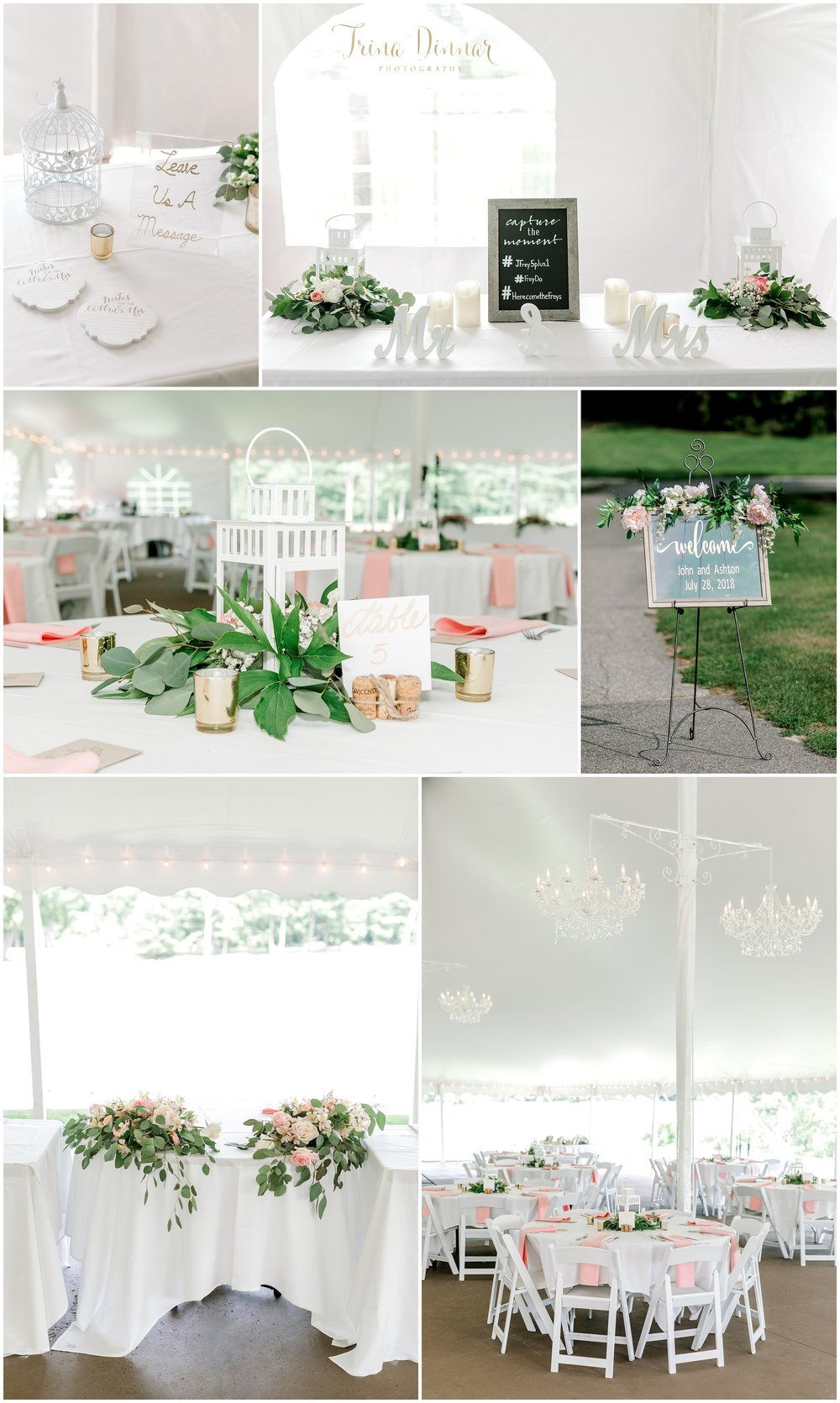 Falmouth Country Club Wedding Reception Tent Decor