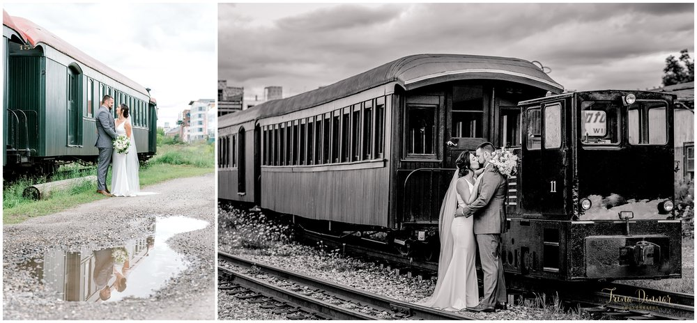Lindsey and Chris' Portland Narrow Gauge Railroad Museum Wedding Portraits