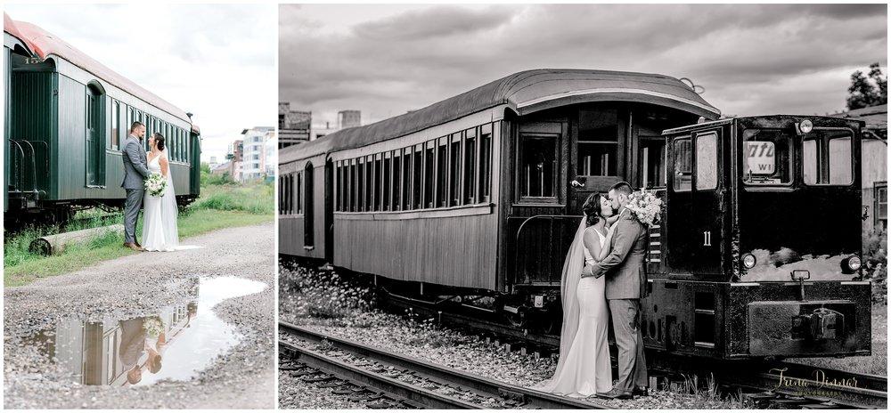 Lindsey and Chris' Portland Narrow Gauge Railroad Museum Wedding Portraits