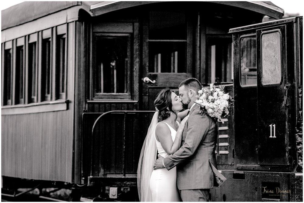 Narrow Gauge Railroad Portland ME Wedding Photos