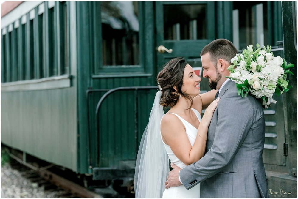 Train Themed Railroad Wedding in Maine