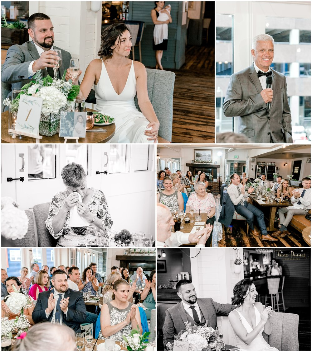 Toasts and Speeches during Ri Ra Portland Wedding reception